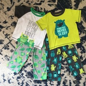 TODDLER (2 pair) Carter's Pajama Sets SIZE 3T